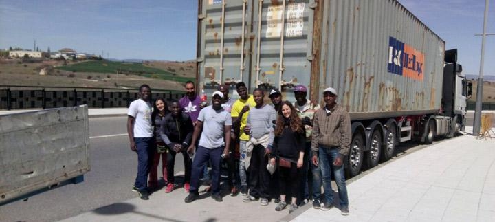 Envio-material-Fundacion-Cepaim-en-Soria-a-Guinea